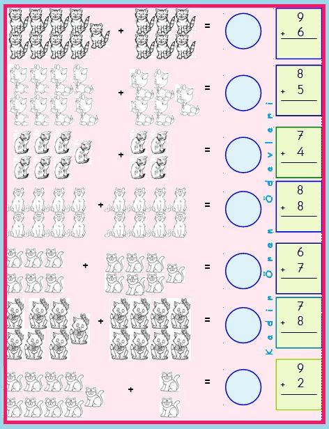ilkokul ödevleri: 1. sınıf toplama işlemi etkinliği