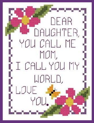 daughter mothers day cards | VeeandCo Cross Stitch Designs: Mothers Day Complimentary Charts