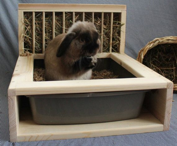 Bunny Rabbit Hay Feeder and Litter Box von animalfriendzy auf Etsy
