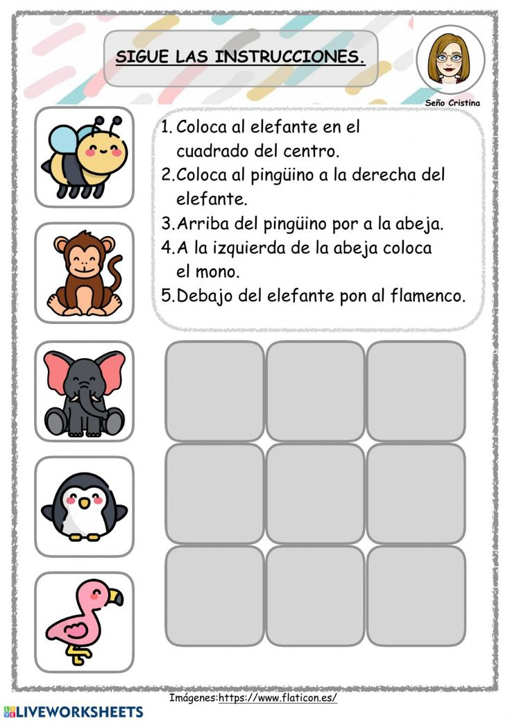 Atención online activity for infantil/primaria. You can do the exercises online or download the worksheet as pdf. Spanish Classroom Activities, Preschool Education, Preschool Curriculum, Teaching Activities, Teaching Spanish, Learning Centers, Kids Learning, School Items, Speech Language Therapy
