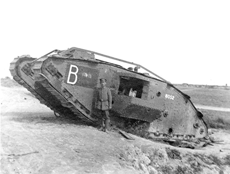 Captured British Mk IV tanks