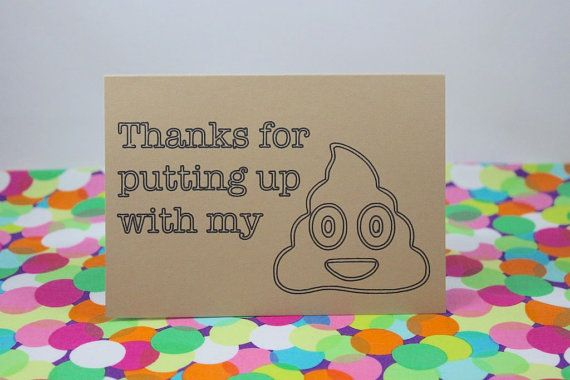 Funny Mother's Day Card. Thanks for putting up with my crap. Handmade by BettieConfetti on #Etsy