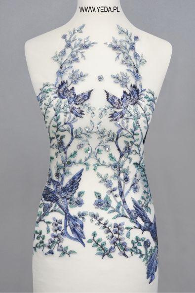 Koronka ML14409 TAŚMA Doskonała na suknie koktajlowe lub wieczorowe. Idealna dla druhen, świetnie prezentuje się na przyjęciach weselnych,studniówkach lub balach sylwestrowych.