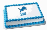 NFL Cake Toppers Detroit Lions Cake Topper Image
