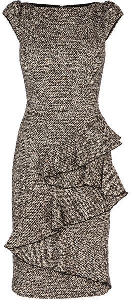 KAREWN MILLEN ENGLAND Woolly Tweed Collection Dress - I need school-bus yellow t-straps with this