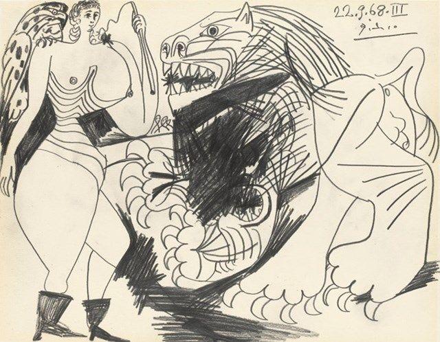 Pablo Picasso, Dompteuse et Loin 1968 | AnOther Loves