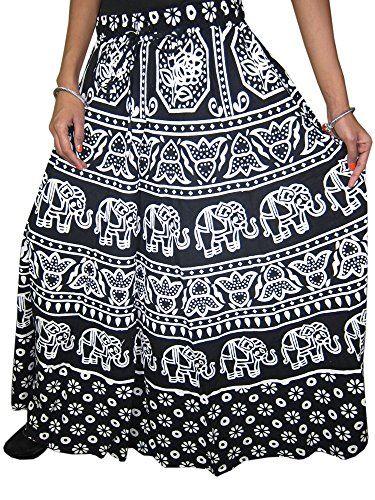 Bohemian Women's Long Skirt Black White Printed Cotton Casual Hippie Boho Maxi Skirts Mogul Interior http://www.amazon.ca/dp/B013FXL9B2/ref=cm_sw_r_pi_dp_4bUZwb0XAMHKX