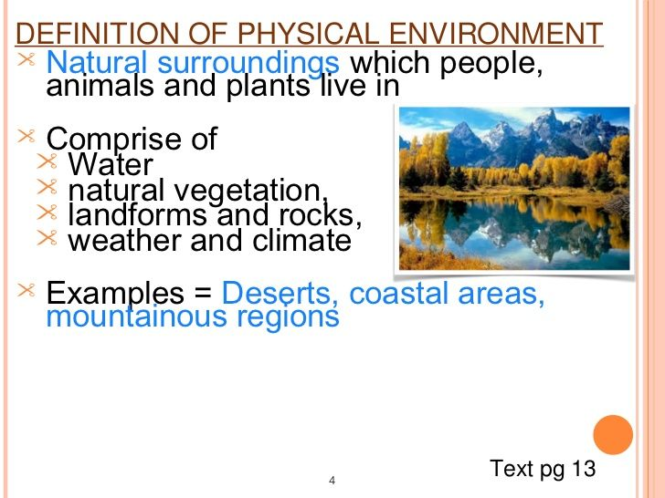 examples of physical environment | Physical and human environment blog