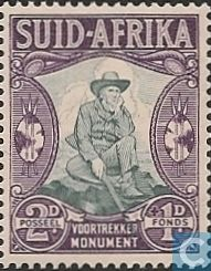 1933 South Africa - Voortrekker monument Fund (Afrikaans)