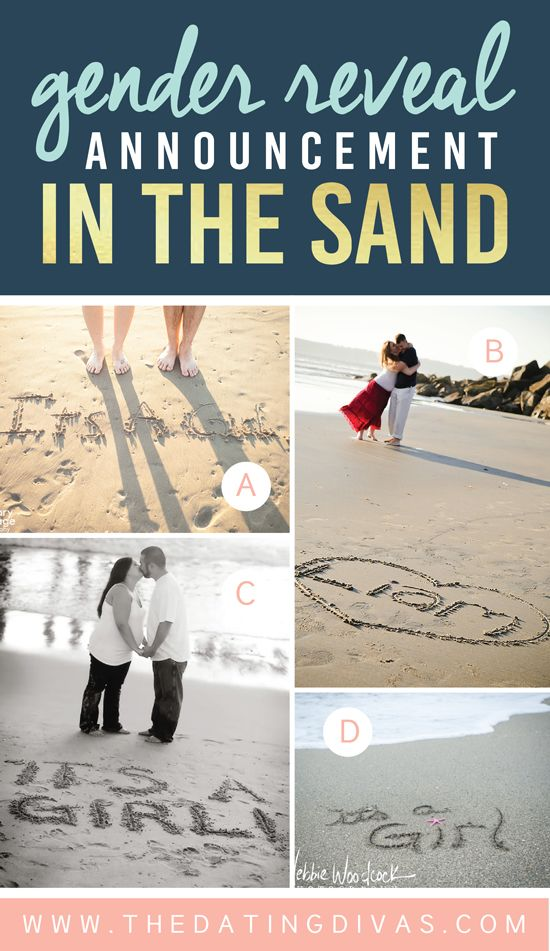 gender-Reveal-Announcement-in-the-Sand
