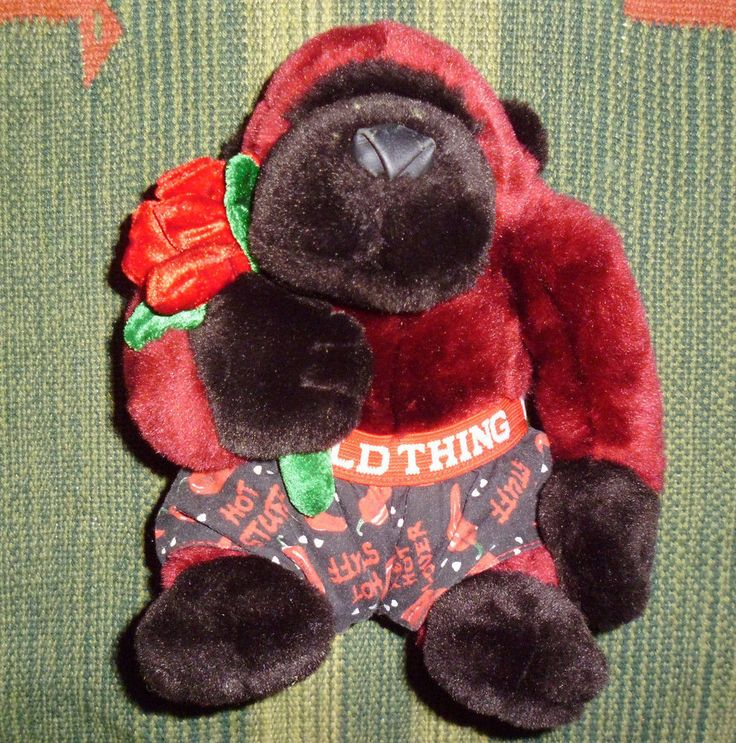 "Dan Dee love plush Valentine Gorilla stuffed animal Monkey Wild Thing boxers 10"" #DanDee"