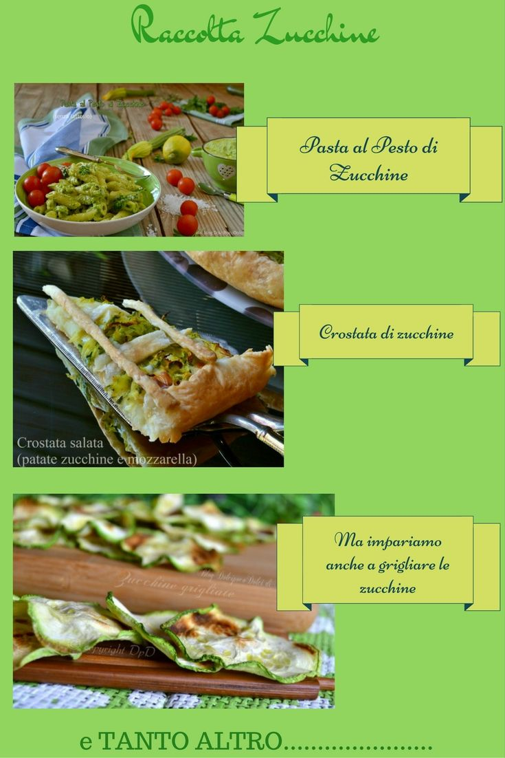 Ricette con zucchine | Raccolta | Dolcipocodolci