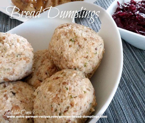 German Bread Dumplings from Bavaria - http://www.quick-german-recipes.com/german-bread-dumplings.html