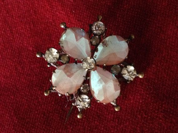 Saphiret or Sapharine star or floral brooch by lesjardinsdeleanor, $235.00