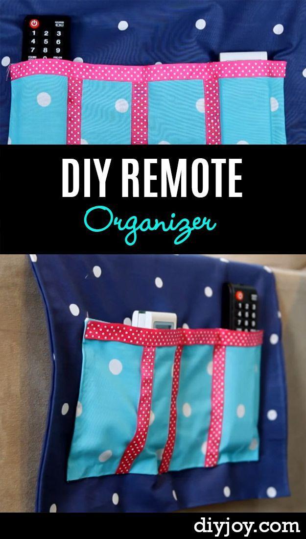 DIY Remote Organizer Sewing Tutorial.