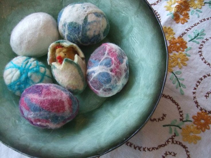 More felted egg fun