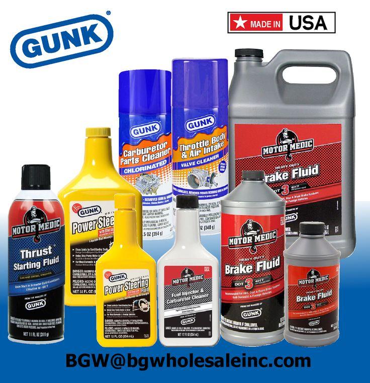Gunk Power Steering Fluid, Startign FLuid, Dot 3 Brake