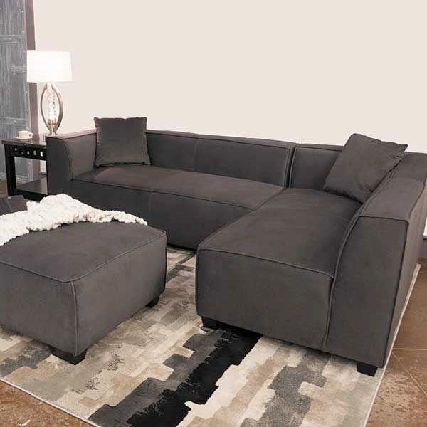 the zara 2 piece gray sectional sofa