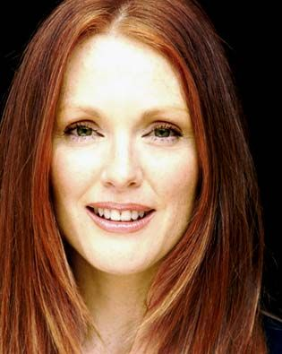 Julianne Moore. Just passed her on the streets of lower Manhattan. She had no makeup on, and looked incredibly beautiful.