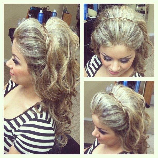 Style with the braid soft loss curls