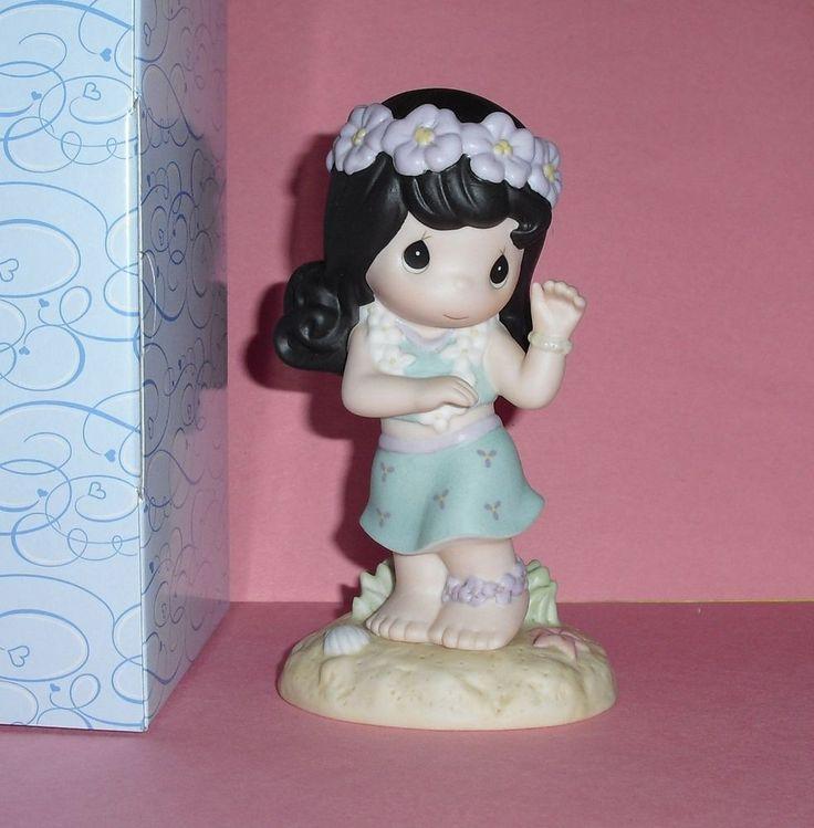 VERY RARE Precious Moments Hawaiian Girl ALOHA Hula Lei Hawaii Exclusive Figure