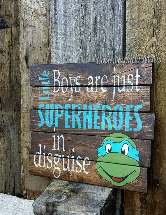 Check out this item in my Etsy shop https://www.etsy.com/ca/listing/249166944/superhero-wood-sign-ninja-turtle-18x18