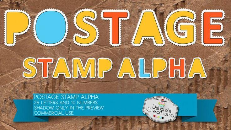 Postage Stamp Alpha by Debora's Creations (CU)