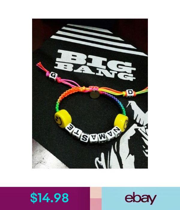 G-DRAGON BIGBANG BIG BANG GD  KPOP Gift Smile namaste Bracelet handmade