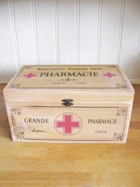 Vintage Style Pharmacie Box