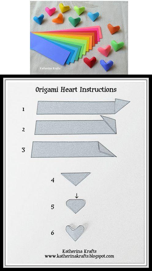 gefaltete dreidimensionale Herzen