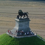 Lion Mound of Waterloo - Belgium - We climbed all those steps to the top!