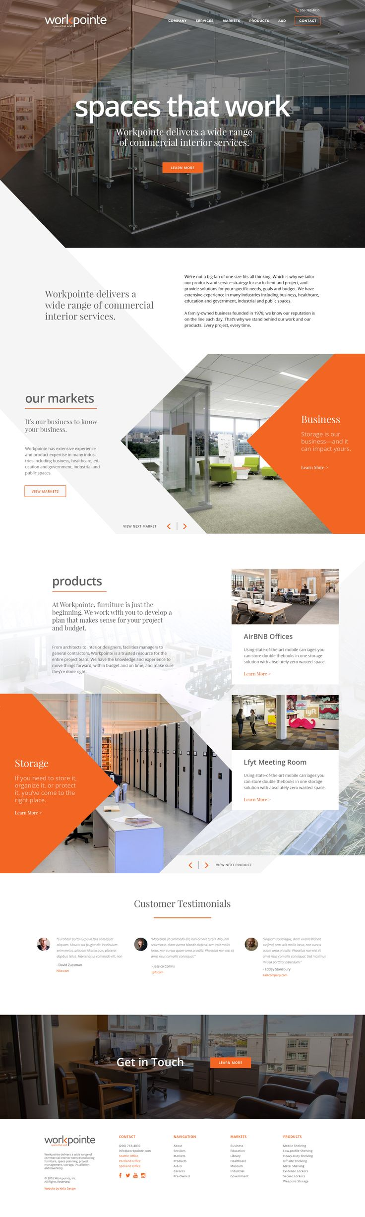 Workpointe Interiors · Web Design ...