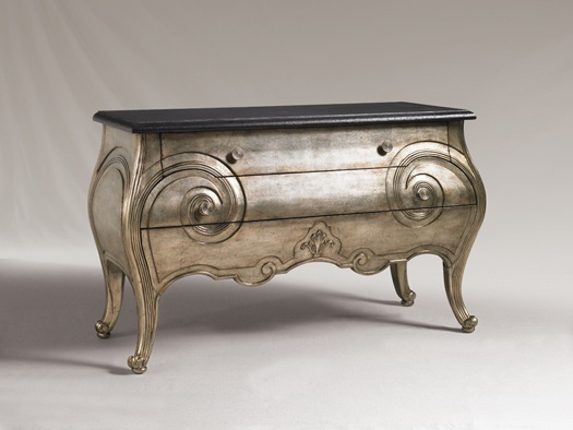 Henry Link Trading Co. Club Moustache Hall Chest in burnished silver leaf finish - Lexington Home Brands