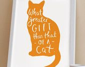 A4 Quote Cat Print