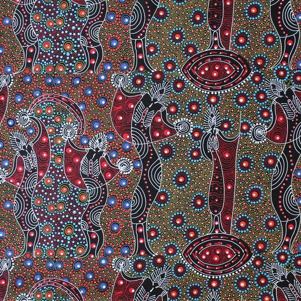 DANCING SPIRIT RED by Australian Aboriginal Artist COLLEEN WALLACE