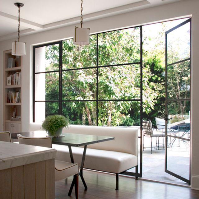 Source Double Glass Exterior Aluminium Out Swing Patio Doors