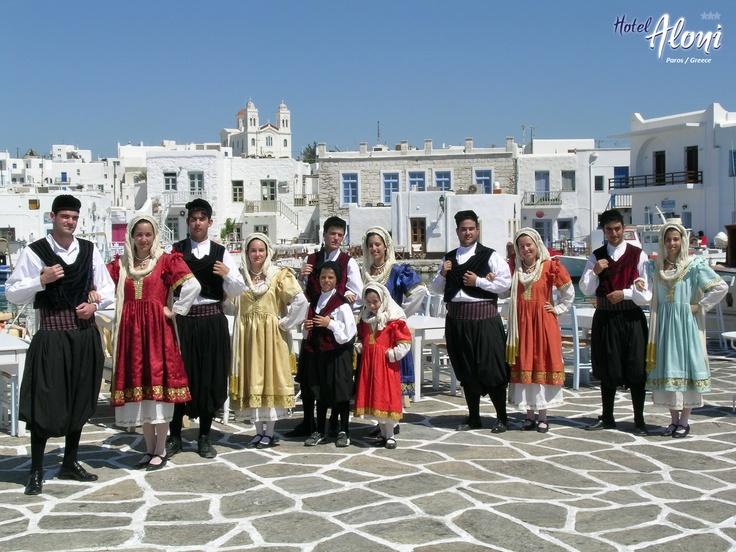 Greek dancing on Paros, Greece