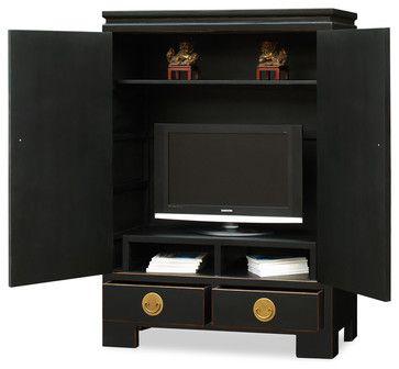 Elmwood Ming TV Armoire - asian - Media Storage - China Furniture and Arts