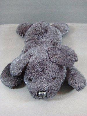 "12"" Laying BLACK LAB DOG Bean Bag Stuffed Plush Stuffed Toy B168"