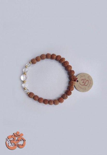 Quartz Crystal and Gold Plated Sterling silver beads #aum #rudraksha #beads #bracelet #jewellery #quartzcrystal #silver #bali