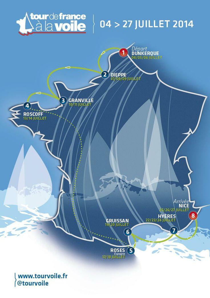 De Dunkerque à Nice, le #TourVoile se dévoile !  #TFV #M34 #GrandSurprise #Parcours #Manche #Mediterranee | www.scanvoile.com