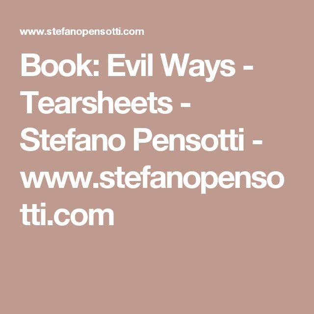 Book: Evil Ways - Tearsheets - Stefano Pensotti - www.stefanopensotti.com