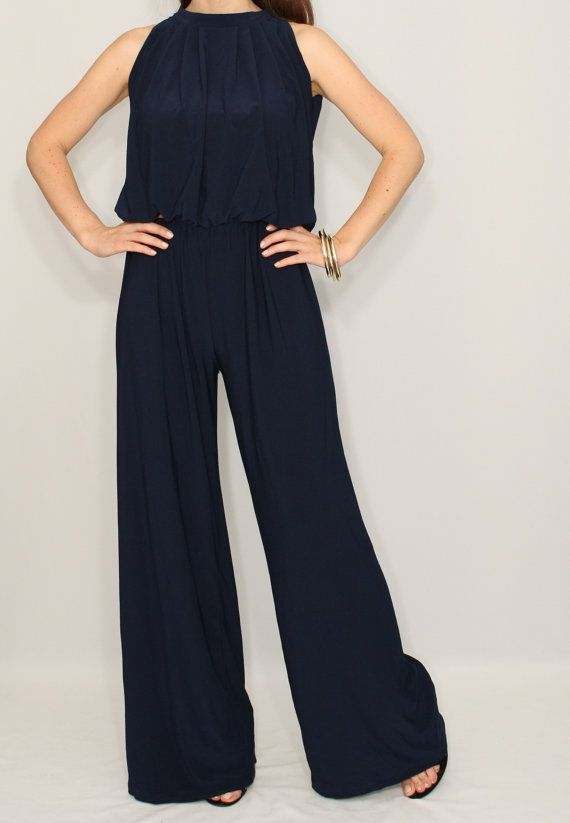 Hey, I found this really awesome Etsy listing at https://www.etsy.com/uk/listing/241270840/women-jumpsuit-navy-jumpsuit-wide-leg