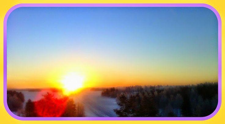 Morning Sun on View from Siltavahti on Jan 20th 2015 3