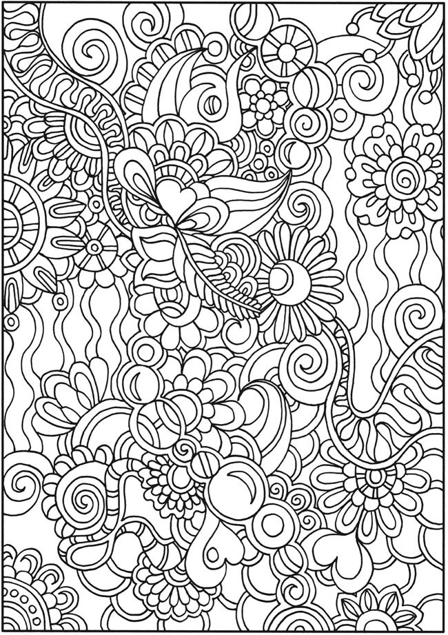 anti stress coloring pages advanced - photo#14
