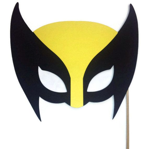 PHoto Booth Props- Wolverine Mask - X Men Mask - Super Hero- Photo ...