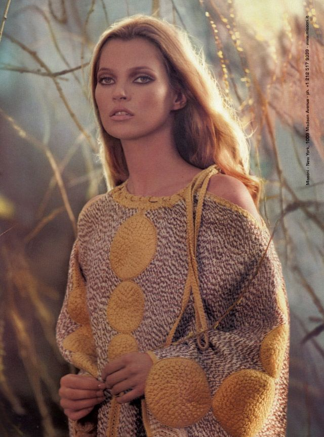 Kate Moss in Missoni, photographed by Mert + Marcus, 2009.