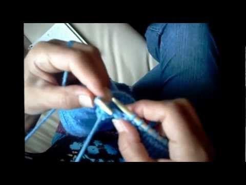 Colete aberto em tricô para bebê - YouTube