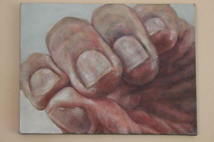 """""""Hands"""" series in oils"""