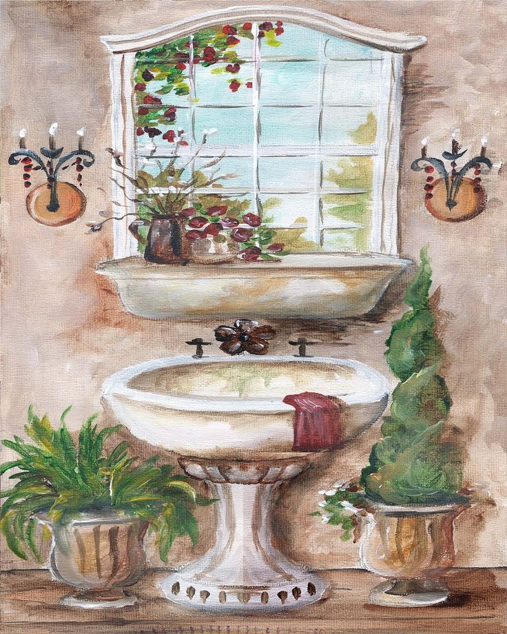 French Country Kitchen Sink: French Country Sink (Tre Sorelle Studios)